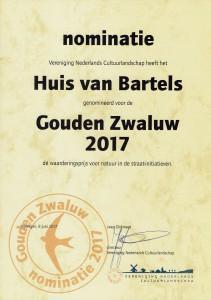 Nominatie HVB Gouden Zwaluw